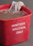 "Figure 1: Dirty Cloth Towel in Dirty ""Sanitizer"" Solution"