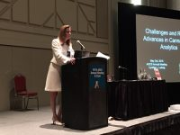 Cynthia Ludwig speaking at last year's meeting
