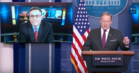 WH press secretary Sean Spicer during a press conference Image via Youtube