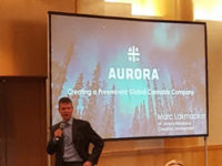 CEO Cam Battley at a conference in Frankfurt